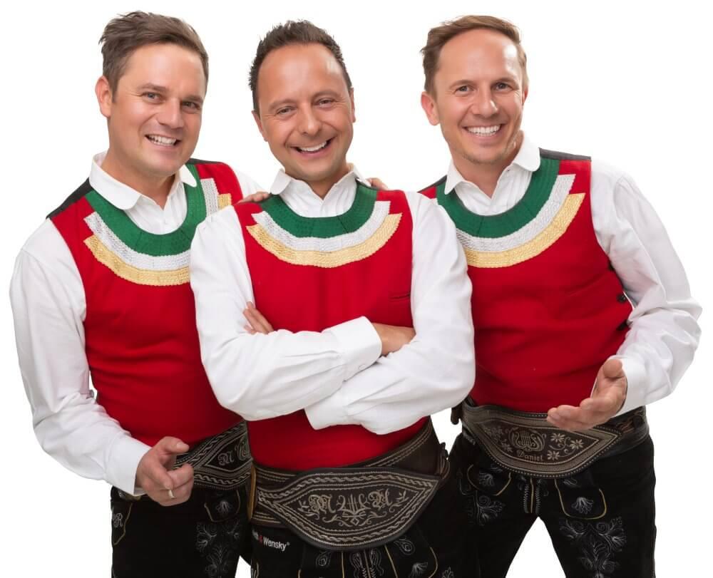 Die Jungen Zillertaler 20. Oktober auf der Showbühne